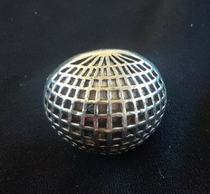 Vintage Reticulated Silver Tone Dome Ring Adjustable - $8.00