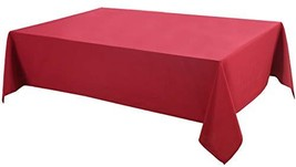 Biscaynebay Printed and Solid Fabric Table Cloth, Water Resistant Spill ... - $13.81