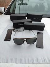Porsche Design Sol Polarizado p8662 Titanio Brazos Gris Lentes Montura M... - $298.70