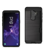 Reiko Samsung Galaxy S9 Plus Slim Armor Hybrid Case With Card Holder In ... - $8.54
