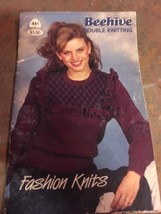 NEW VTG BEEHIVE DOUBLE KNITTING 441 FASHION KNITS 1983 PATONS  SWEATER VEST - $7.79