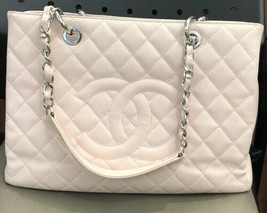 Chanel Pink Quilted Caviar Leather Grand Shopping Tote Bag - $2,600.92