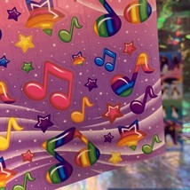 Lisa Frank 90s Complete Sticker Sheet S248 Music Notes Neon Rainbow Fantasy Mint image 2