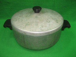 Vintage Wear Ever Aluminum Oven Baking Stock Pot with Handles & Lid 5 Qu... - $28.01