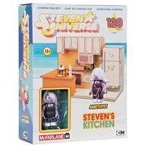 STEVEN UNIVERSE STEVEN'S KITCHEN + AMETHYST FIGURE 120 PC CONSTRUCTION S... - $9.70