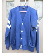 hipster  vintage OLD School  letterman cardigan sweater   soft fleece - $31.00