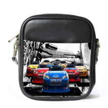 Sling Bag Leather Shoulder Bag Cars Starts Beautiful Racing Car In Compe... - $14.00