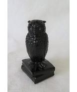 Westmoreland, Owl, Rhinestone Eyes, Black Glass, Black Amethyst OOB-1, C... - $40.00