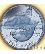 2017 CRABEATER SEAL - Blue TITANIUM Coin in BOX+COA British Antarctic Territory - €52,70 EUR