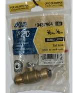Blue Hawk 0457964 P2C Brass Fitting Ball Valve Removable - $9.48