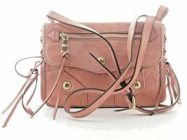 DKNY NWT $298 Rose Dana Crossbody Clutch Bag Distressed Leather Tassels ... - $133.85