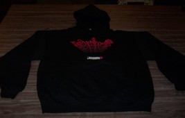 New York Dolls Hoodie Hooded Sweatshirt Large Metal Band New - $49.50