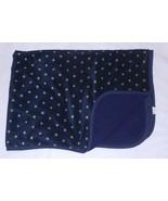 Carter's Baby Blanket Dark Navy Blue Green Stars Sherpa - $22.54