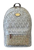 Michael Kors Jet Set Studded Large Vanilla PVC Signature Backpack NWT - $259.00