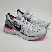 Nike Epic React Flyknit 2 Oreo Pink 2019 Mens Sz 8 Running Shoes BQ8927 ... - $117.81