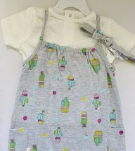 Mini Heroes Baby Girl's 3-Pieces Cactus Romper, Tee White and Grey color... - $11.00