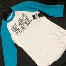 Nwt Adidas Weiß & Baseball ¾ Ärmel Baseball Hemd Damen Schnell Pitch War Einfach - $6.96
