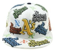 American Needle Oakland Athletics MLB White Embroidered Baseball Cap Coo... - $19.79