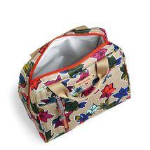 Vera Bradley Water-Repellent Lighten Up Lunch Cooler Bag,Falling Flowers Neutral image 2