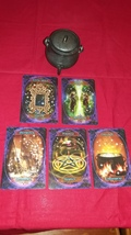 Witches' Wisdom Oracle Cards Reading with FIVE CARDS make best possible choice  - $25.55