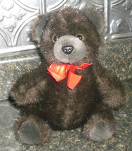 VINTAGE HUG-A-PLUSH COMMONWEALTH 1989 DARK BROWN TEDDY BEAR STUFFED ANIM... - $14.03