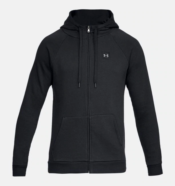 Primary image for Under Armour Men's  Rival Fleece Full-Zip Hoodie NEW AUTHENTIC Black 1320737-001