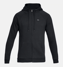 Under Armour Men's  Rival Fleece Full-Zip Hoodie NEW AUTHENTIC Black 132... - $39.49