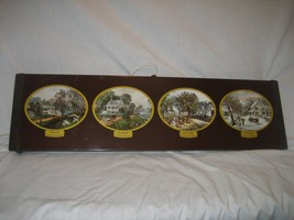 """Vintage Large Currier & Ives 25"""" WARM-O-TRAY Ho... - $19.75"""