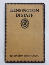 1926 SPRING antique KENSINGTON pa GIRLS HIGH SCHOOL DISTAFF BOOK poetry ... - $38.95
