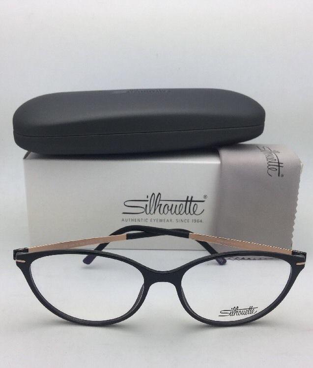 New SILHOUETTE Eyeglasses SPX 1578 75 9020 56-16 135 Black & Bronze Frames