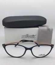 New SILHOUETTE Eyeglasses SPX 1578 75 9020 56-16 135 Black & Bronze Frames image 2