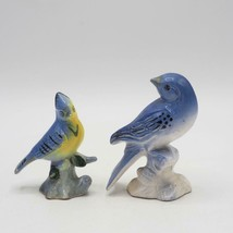 Vintage Lot of 2 Ceramic Bird Figurines made in Japan - $50.36