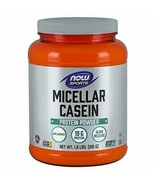 NOW Sports Nutrition, Micellar Casein 19 G, Slow Release, Unlfavored Pow... - $35.24
