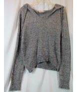 NWT Crave Fame Black White Long Sleeve Hooded SOFT Sweater Junior Medium... - $25.64