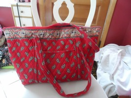 Vera Bradley Miller bag in Retired RED pattern  Indiana Tags - £54.27 GBP