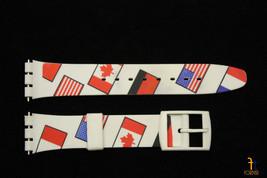 17mm Banderas de Países Suave PVC Recambio Blanca Correa para Reloj Pulsera - $9.08