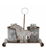 Ebros Gift Galvanized Tin Metal Rustic Vintage Farm Milk Caddy With Gall... - $18.99