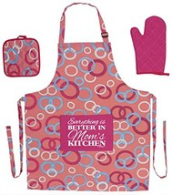 Kitchen Gifts for Mom Everything is Better in Mom's Kitchen Funny Aprons... - $31.37