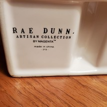 Rae Dunn Bathroom Organizer, STORE Rainbow, Square 2 Opening Makeup Brush Holder image 7