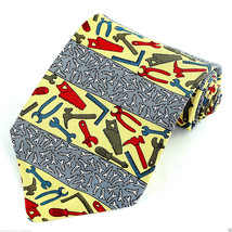 All Screwed Up Men's Necktie Vicky Davis Home Improvement Silk Yellow Ne... - $19.75