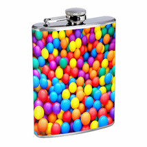 Colorful Balls Em1 Flask 8oz Stainless Steel Hip Drinking Whiskey - $262,23 MXN