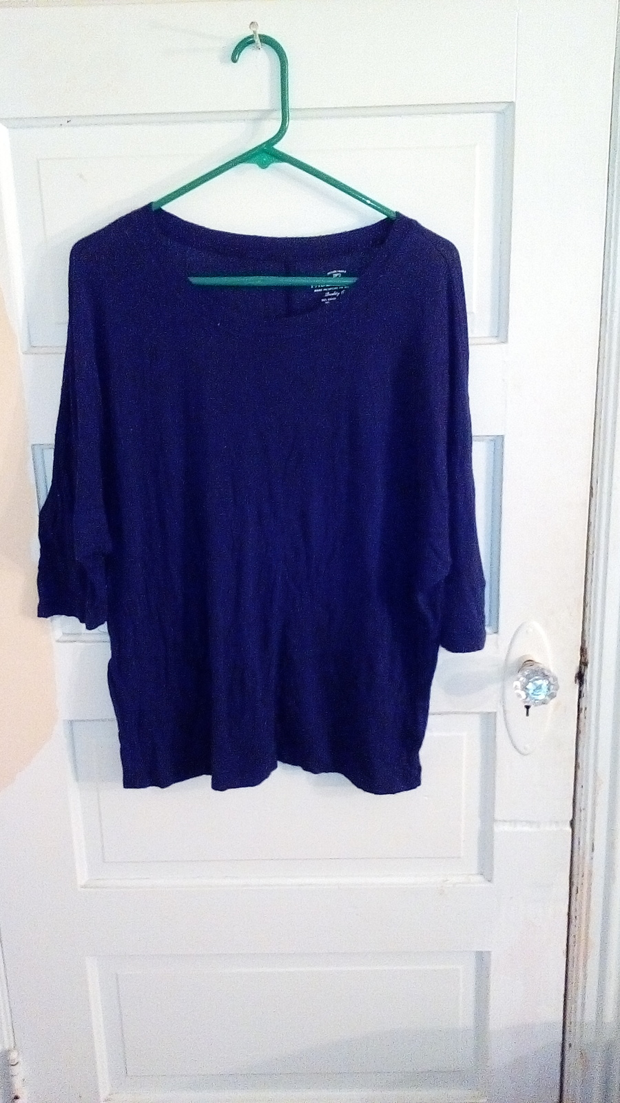 Womens Large Faded Glory blue long sleeve top ras1365