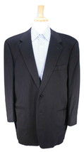 * VESTIMENTA * Solid Black 100% Cashmere 2-Btn Sportcoat Blazer 44R - $70.00