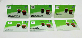Starbucks Coffee 2012 Gift Card 6 Business Advertising Set Mug Cups Zero... - $22.54