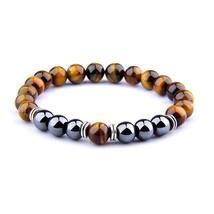 Natural  Eye Beads Bracelet For Women Health Care Hematite Stretch Bracelets Men - $21.62