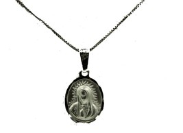 Virgen de Guadalupe Pendant .925 Sterling Silver -Our Lady of Guadalupe ... - $15.10