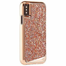 iPhone X ?S Case TPU Rugged Mil Grade Metalic Buttons Genuine Crystals R... - $41.62