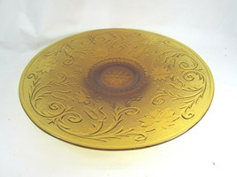 Vintage Amber Anchor Hocking Serving Platter Plate Sandwich Desert Gold 51115 - $29.69