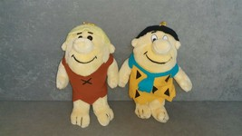 """Fred Flintstone & Barney Rubble 10"""" Stuffed Plush Dolls Nanco 1989 [NICE] - $17.00"""