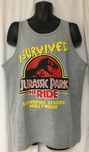 Universal Studios Jurassic Park the Ride Tank Top Sleeveless XL Vintage 1996